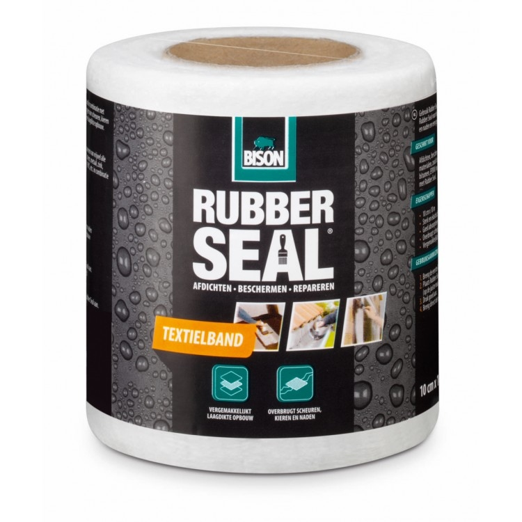 Bison Rubbel Seal textielband 10 cm x 10 m.